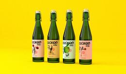 国外品牌Cuckoo Cidre果酒瓶贴设计欣赏