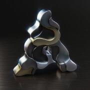 国外设计师Vigan Tafili质感超现实主义3D字母设计欣赏