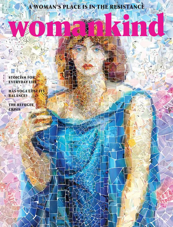 国外《Womankind》女性杂志三周年12期封面设计(一)