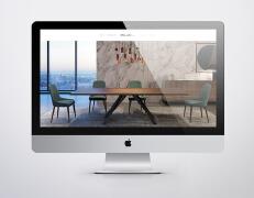 国外简约风格的GUAL家具品牌网页界面设计欣赏