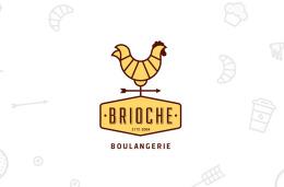 国外Brioche面包品牌橙色版VI形象设计作品欣赏