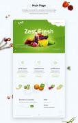 国外绿色清新的Zest新鲜苏果品牌网页设计欣赏