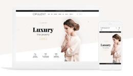 国外Opulent在线珠宝商店小清新简洁网页设计欣赏