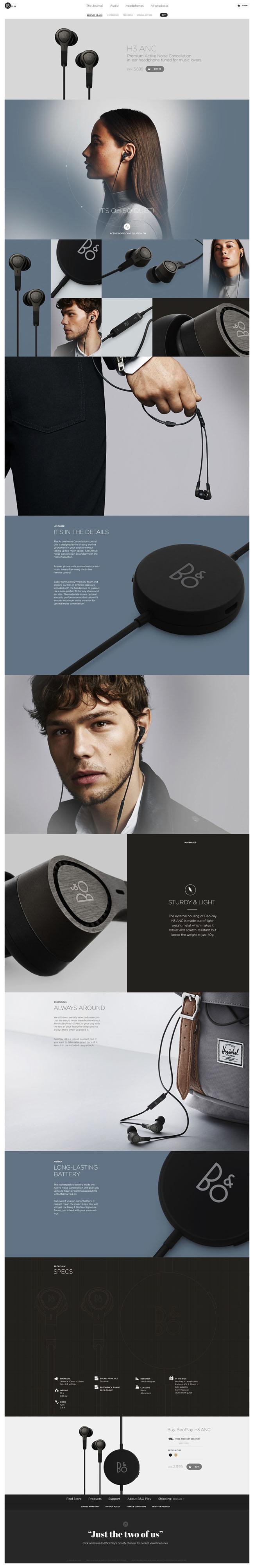 时尚美观的国外产品介绍网页设计作品(一)