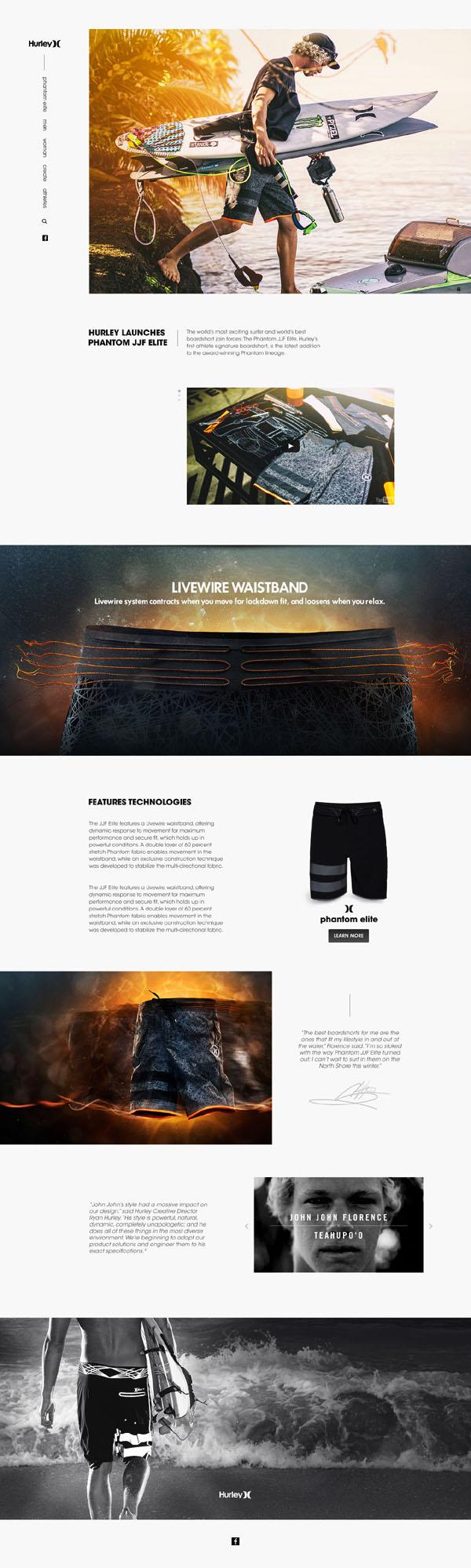 时尚美观的国外产品介绍网页设计作品(三)