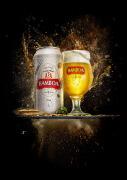 国外Bamboa啤酒爆炸喷溅效果视觉设计欣赏