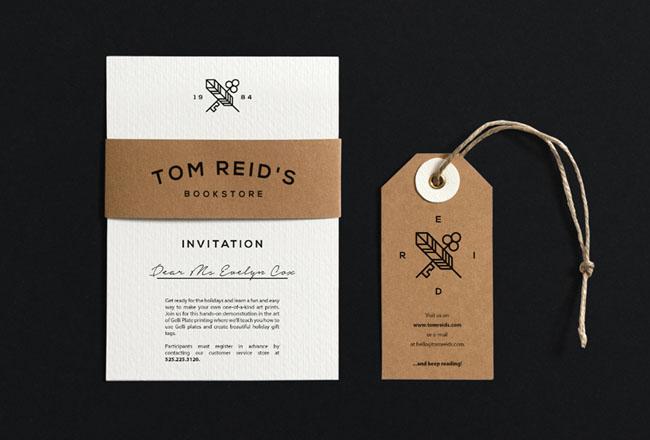 国外精致秀气的Tom Reid''s书店VI设计22P
