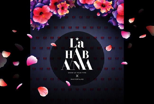 国外漂亮的La Habana花卉字体设计作品