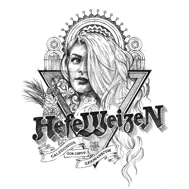 国外Heidi Weisse小麦啤酒精美包装设计作品欣赏