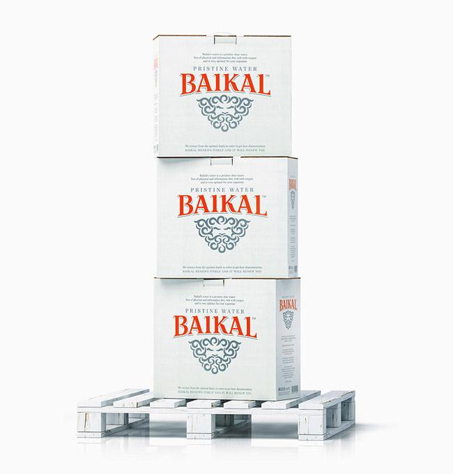 国外清新亮丽的Baikal优质纯净水包装设计作品欣赏
