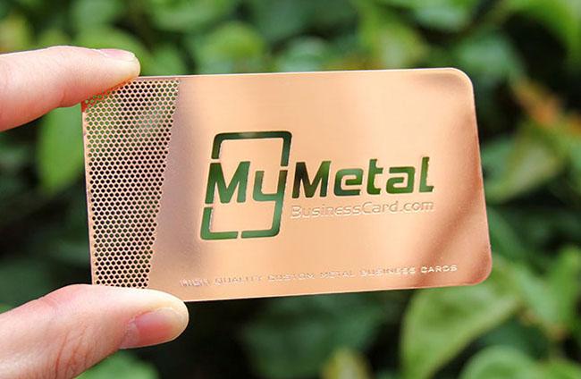 美国设计师MyMetal镂空金属名片设计作品欣赏
