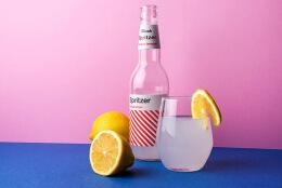 国外Spritzer柠檬伏特加瓶贴设计作品