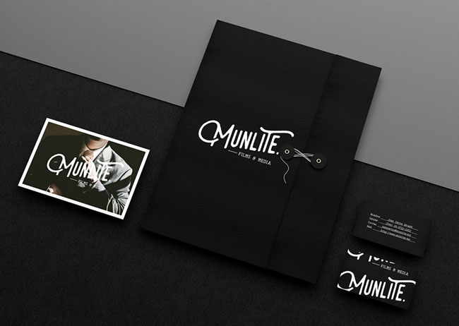 国外Munlite婚纱摄影公司品牌vi形象设计作品欣赏