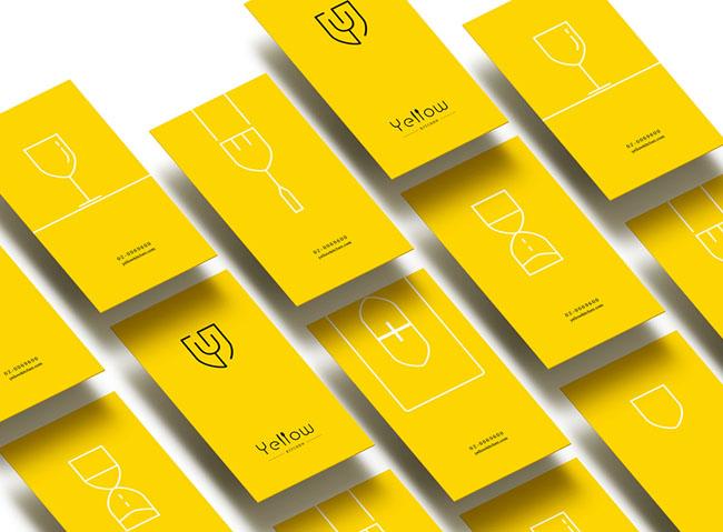 国外Yellow Kitchen餐厅品牌vi形象设计欣赏