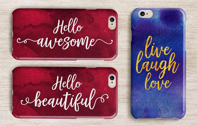 国外美观的Hello Sweets手写风格字体设计