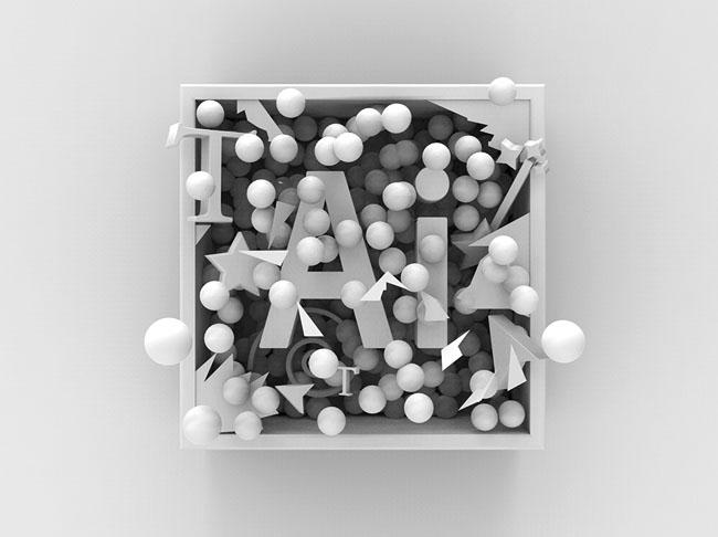 AI和PS字体缩写软件名立体字设计