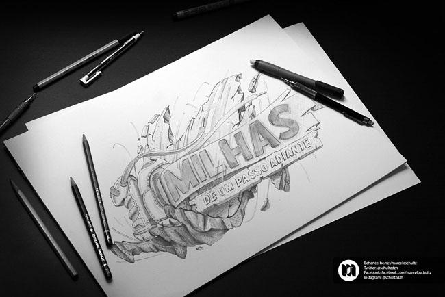 国外设计师MarceloSchultz绚丽的字体设计(十一)