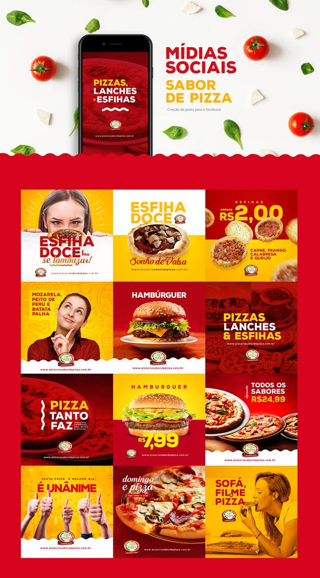 国外Sabor de Pizza比萨店网页旗帜广告设计欣赏