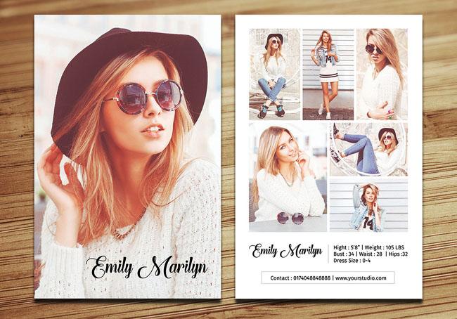 国外一组时尚模特介绍宣传单设计欣赏