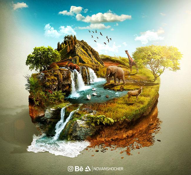 """国外""""自然世界""""主题PS数码合成设计"""