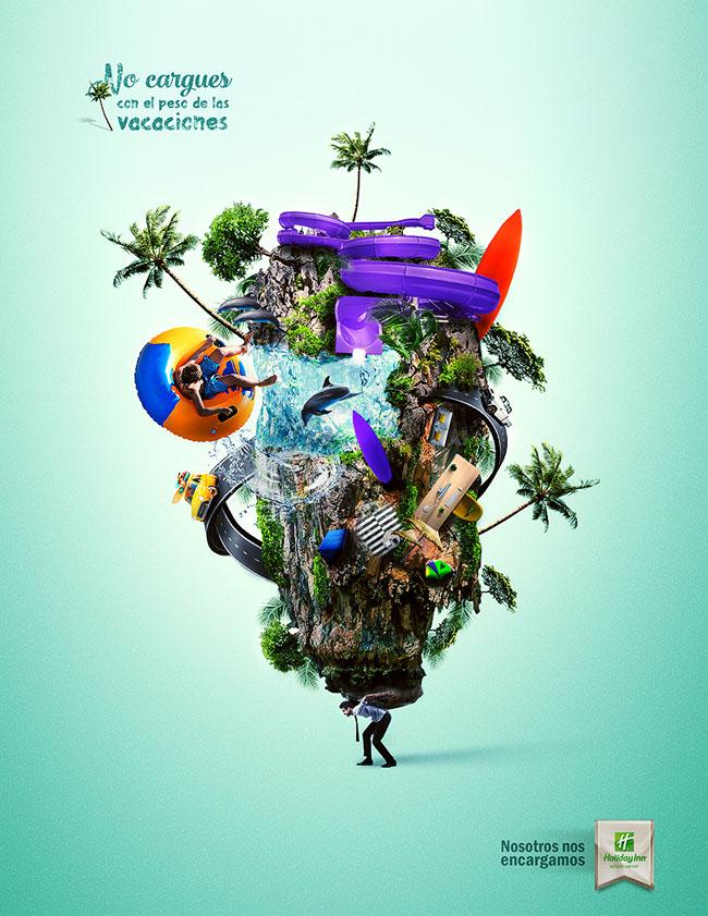 国外Holiday Inn假日酒店创意广告设计欣赏