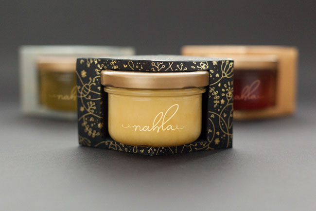 国外Nahla有机蜂蜜精美包装设计作品欣赏