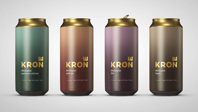 国外简约精致的Krone啤酒包装设计作品欣赏