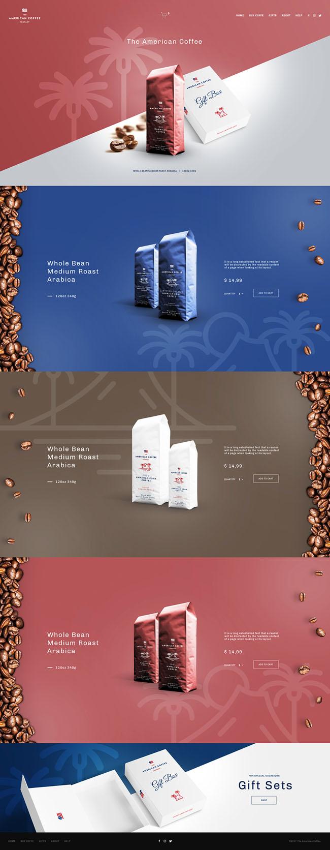 国外American Coffee咖啡品牌网页设计欣赏