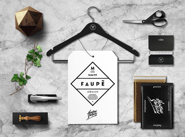 国外FAUPE服饰品牌VI形象设计