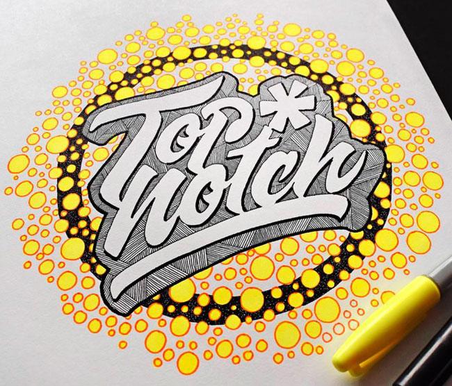 美国设计师Juantastico超酷的手工艺术字体设计作品