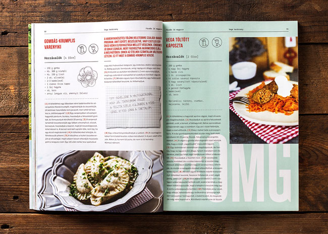 匈牙利《Foerdos Ze》烹饪杂志版面设计作品14P