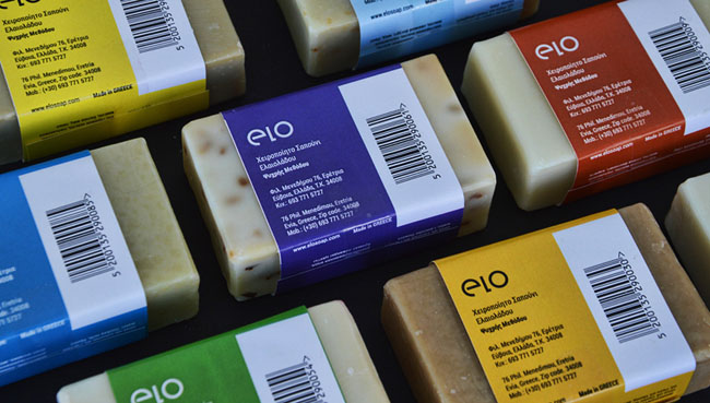 国外清新的Elo纯手工希腊橄榄油香皂包装设计欣赏