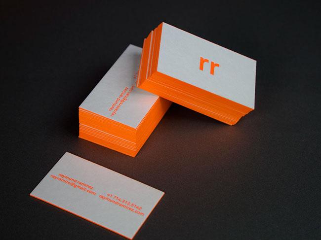 美国设计师Raymund Ramirez个人彩边凸版名片设计欣赏