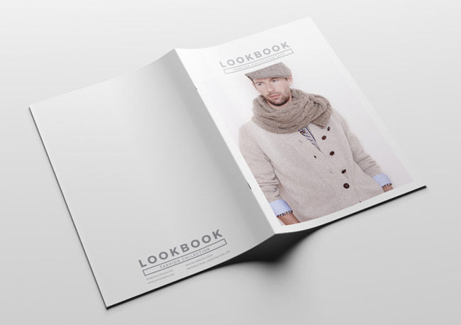 国外时尚男装画册模版设计案例分享