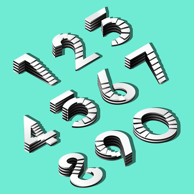 """国外""""天国的阶梯""""创意立体数字设计"""