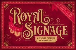 国外金色漂亮的Royal Signage复古字体设计作品