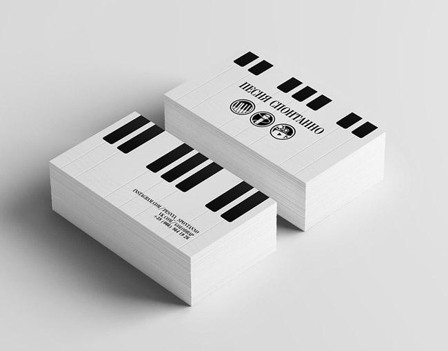 分享国外一款简约的乐队名片设计作品