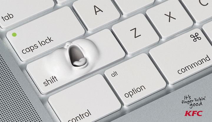 肯德基创意广告设计:舔手指的主题设计