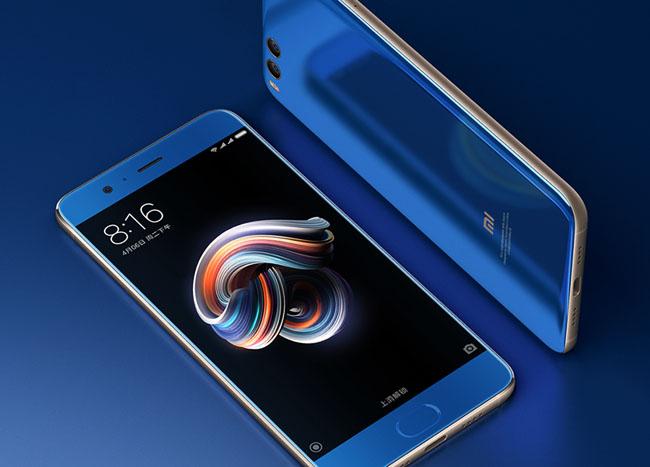 国外设计师设计的小米Note 3手机锁屏界面与笔记本壁纸界面