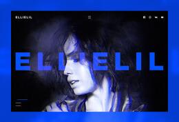 国外歌手Ellielil时尚网页设计作品欣赏