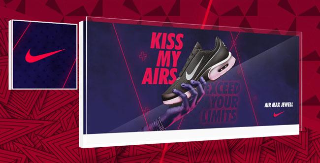 国外耐克Kiss My Airs活动主视觉设计作品欣赏