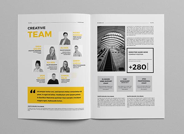 巴勒斯坦设计师AbdElrahman商务画册设计作品