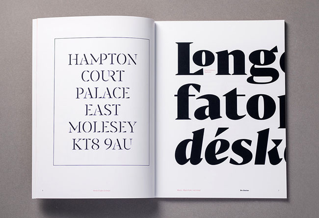 西班牙设计师Alberto Romanos字体目录画册设计欣赏