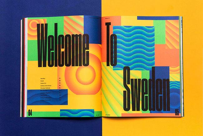 Welcome to Sweden创新文化与设计类杂志版面欣赏