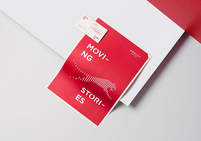 国外红色版Red Cat Motion视频机构品牌VI设计