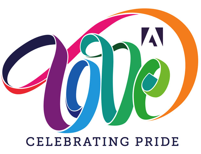 国外Adobe Pride 活动时尚字体设计欣赏