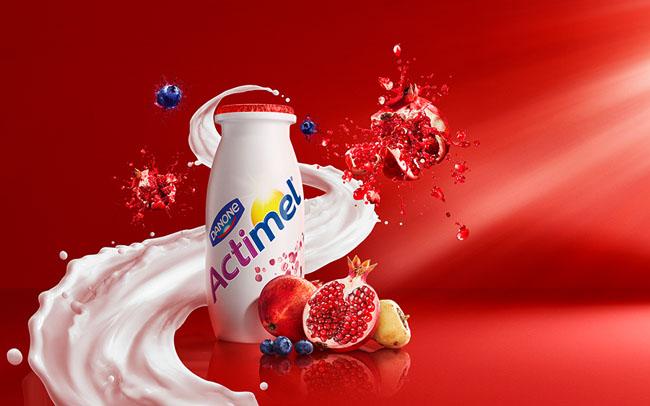 国外达能Actimel益生菌酸奶系列品牌vi形象设计