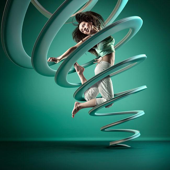 国外''MOTION IN AIR''空中的舞者系列数码艺术设计欣赏