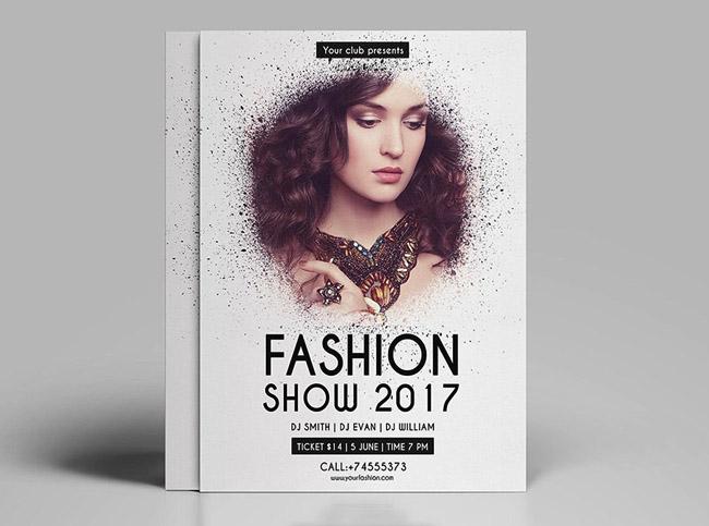国外唯美时尚的女性品牌宣传单设计欣赏