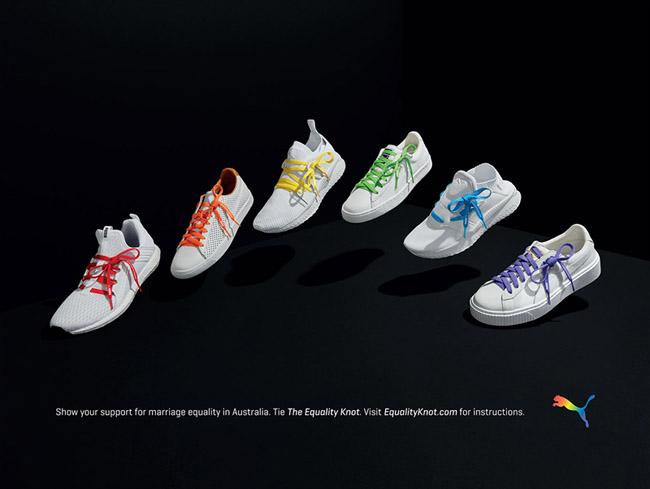 国外Puma运动鞋系列简美平面广告设计欣赏